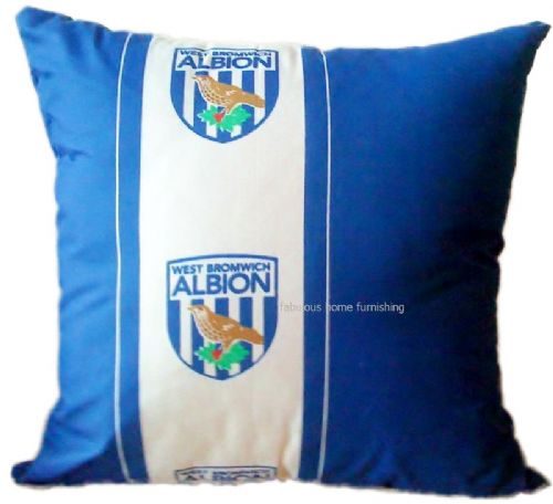 WEST BROMWICH ALBION FOOTBALL CLUB TEAM FILLED CUSHION
